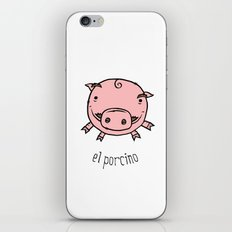el porcino iPhone & iPod Skin