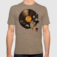 Autumn Song  Mens Fitted Tee Tri-Coffee SMALL