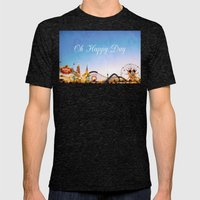 Oh Happy Day Mens Fitted Tee Tri-Black SMALL