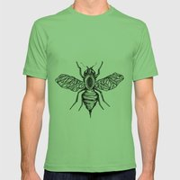 Bee Mens Fitted Tee Grass SMALL