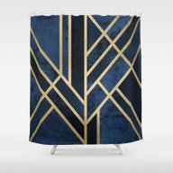 Art Deco Midnight Shower Curtain