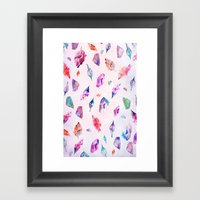 Watercolour Crystals  Framed Art Print