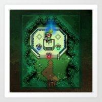 Zelda Link To The Past M… Art Print