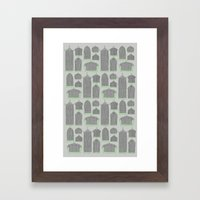 Birdcages (Gray) Framed Art Print