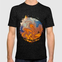 SKY ON FIRE Mens Fitted Tee Tri-Black SMALL