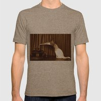 Her Mistresses Voice Mens Fitted Tee Tri-Coffee SMALL