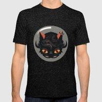 Devil cat Mens Fitted Tee Tri-Black SMALL