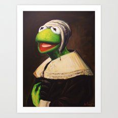 Portrait Of A Young Frog Art Print