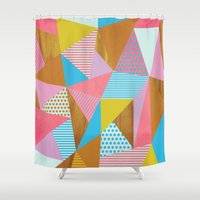 Wooden Colorful Shower Curtain