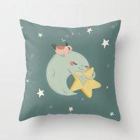 Moon Nap Throw Pillow