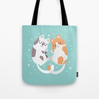 Kitty Cuddles Tote Bag