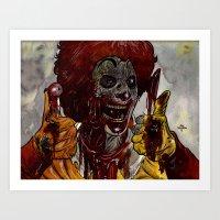 Mac Donalds Zombie Art Print