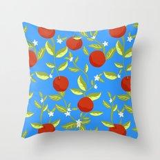 Orange Grove Pattern Throw Pillow