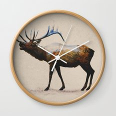 The Rocky Mountain Elk Wall Clock