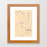 Haikuglyphics - On Lava Framed Art Print