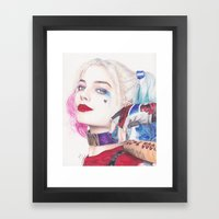 HARLEY BEAUTIFUL CRAZY QUINN! Framed Art Print
