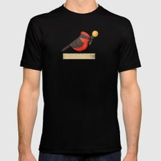 Vermilion Flycathcer Mens Fitted Tee Black SMALL