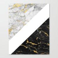 Marble Mix // Gold Fleck… Canvas Print