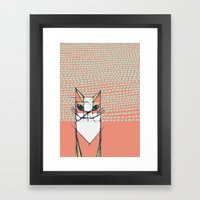 Cubist Cat Study #7 By F… Framed Art Print