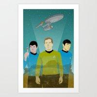 The Enterprise Trio  Art Print