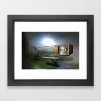 Cable TV Framed Art Print