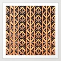 Copper Diamond Pattern Art Print