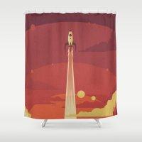 Atomic Sky Shower Curtain