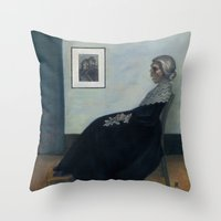 Norman's Mother Throw Pillow