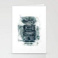 Robot Robot Stationery Cards