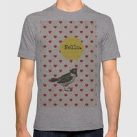 Hello Mens Fitted Tee Athletic Grey SMALL