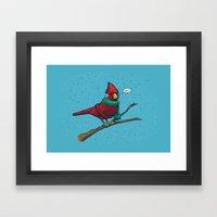 Annoyed IL Birds: The Cardinal Framed Art Print