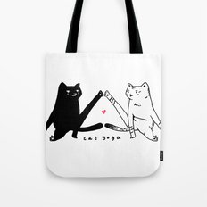 cat yoga Tote Bag