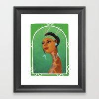 Dama Giraffe  Framed Art Print
