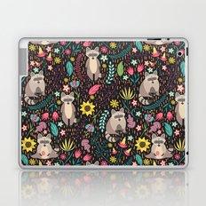 Raccoons bright pattern Laptop & iPad Skin