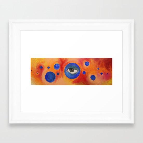 Self Portrait #5: Gazing Ball Framed Art Print