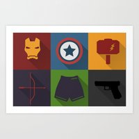 Avengers Icon Art Print