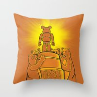 Lord of the Bears Throw Pillow