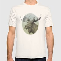 Moose Head Elk Mens Fitted Tee Natural SMALL