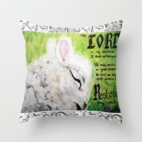 The Lord Restores Psalm … Throw Pillow