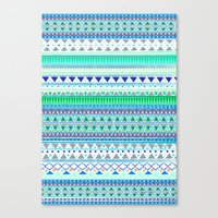 EMERALD CHENOA PATTERN Canvas Print