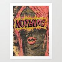 Presenting NOTHING Art Print
