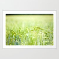Grainy Green Art Print
