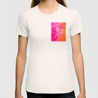 Celebrate Womens Fitted Tee Natural SMALL