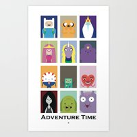 Minimalist Adventure Time Poster Art Print