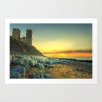 Reculver Towers At Sunset Art Print