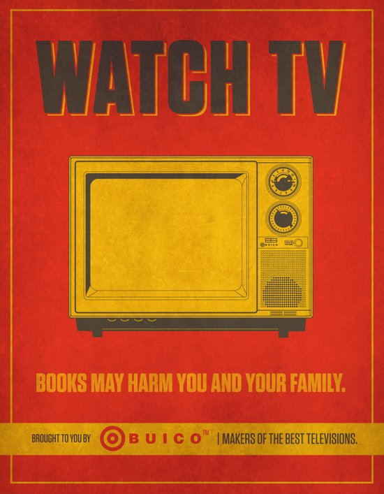 Watch TV.  Canvas Print