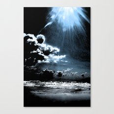 painted beach Canvas Print