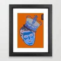Blue Liberace  Framed Art Print
