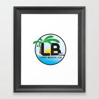 Long Beach CA Logo Desig… Framed Art Print