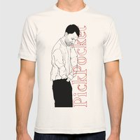 PickPocket 02 Mens Fitted Tee Natural SMALL